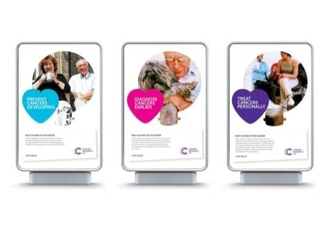 Cancer Research UK brand in action - Design Week
