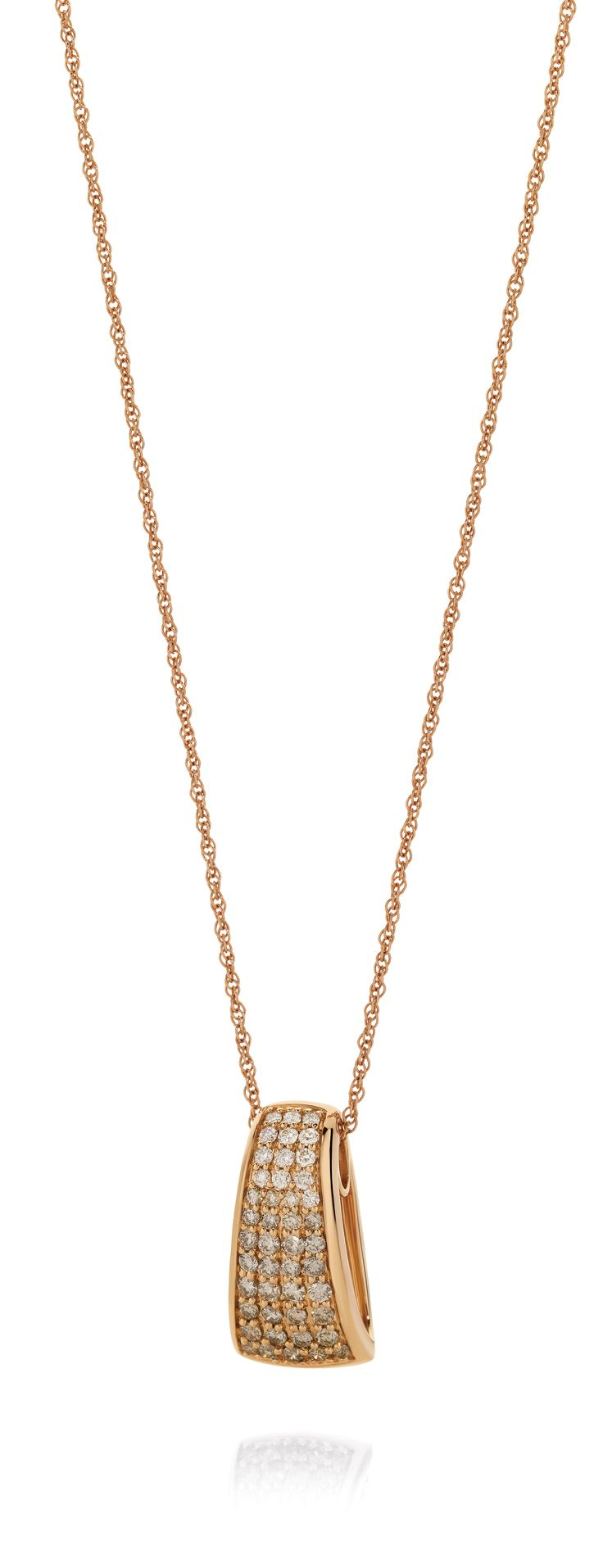 Dreamtime 9ct Rose Gold 0.75ct Graduated Diamond Pendant... Check out the matching ring!