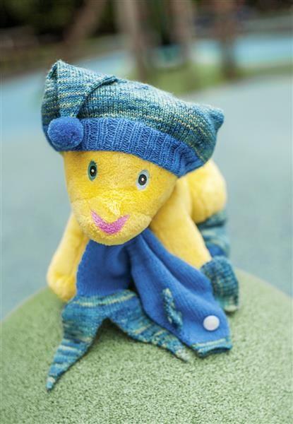 1418: Modell 1 Løveungen bamseklær #Karsten #Petra #Løveungen #FrøkenKanin #strikk