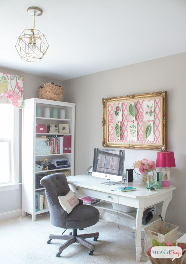 26 best atta girl organizes images on pinterest for Feminine home office