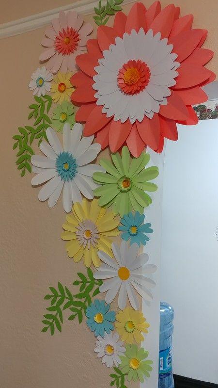 Spring Daisy Paper Flower set for house decor.
