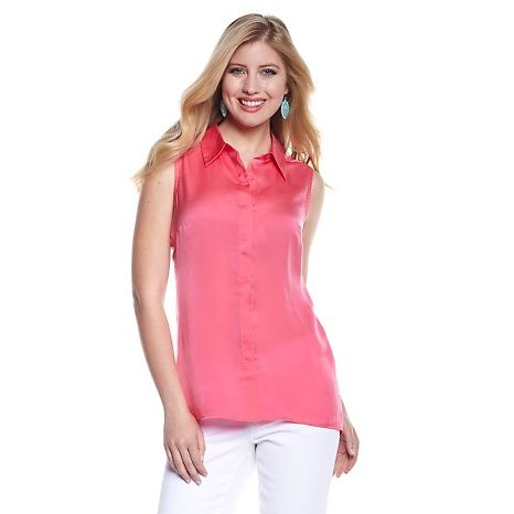 G by Giuliana Rancic Button-Front Blouse