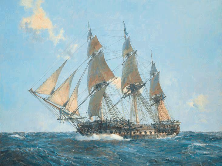 USS United States - 44-gun Heavy Frigate | naval sail ...