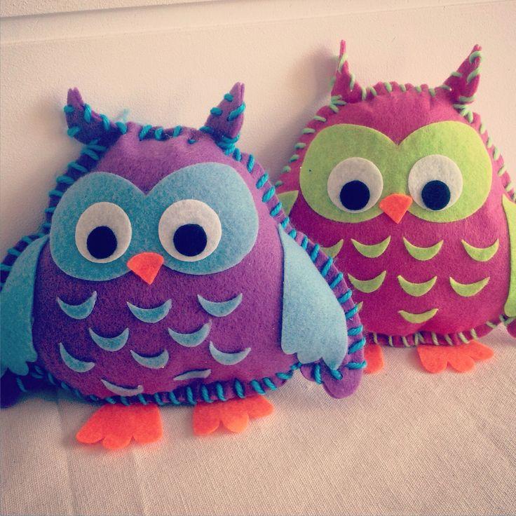 Hoot hoot!  Large owl softies