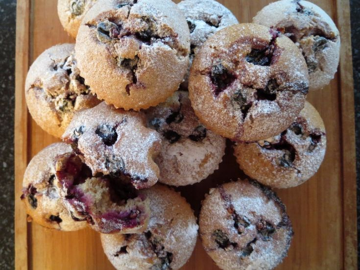 Fotorecept: Špaldové muffiny s červeným hroznom