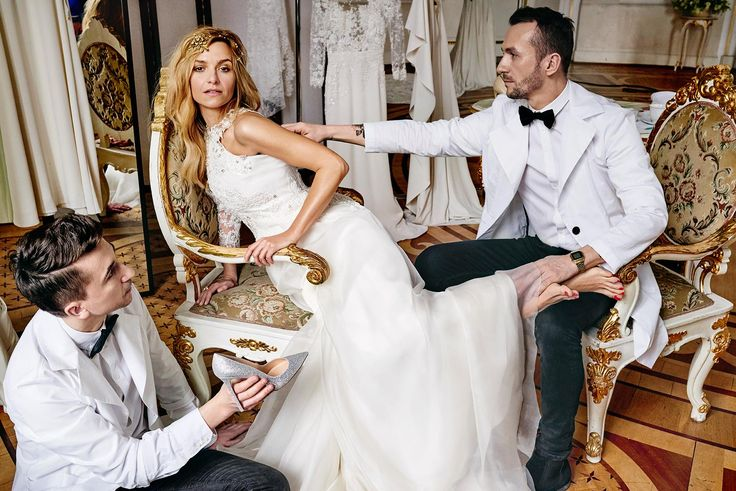 Decolove Golden Rose Bridal Tiara in Paprocki Brzozowski Editorial