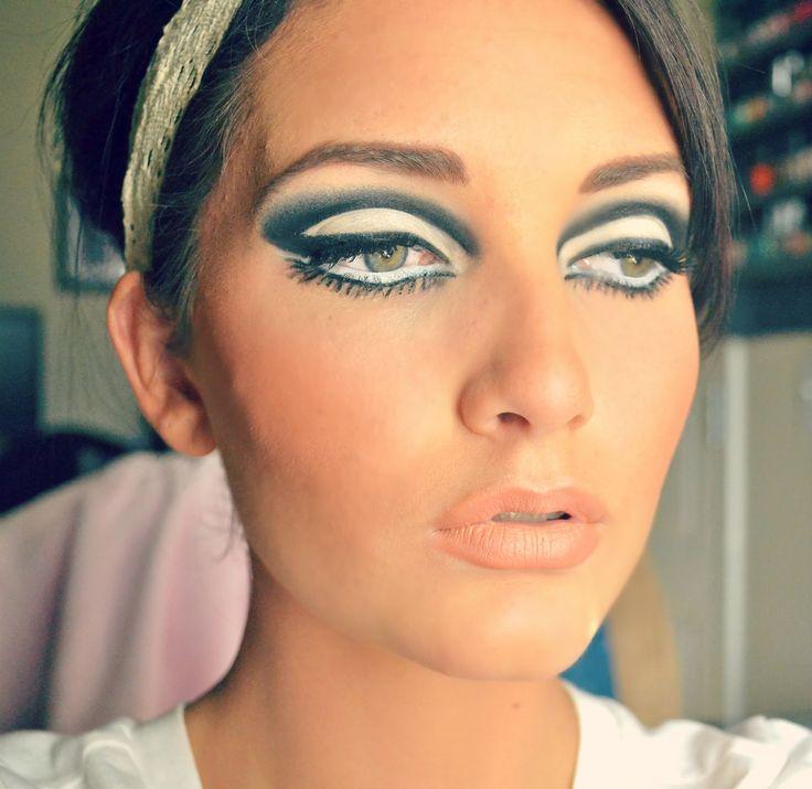 1960's mod makeup | 1960's makeup & hair | Pinterest