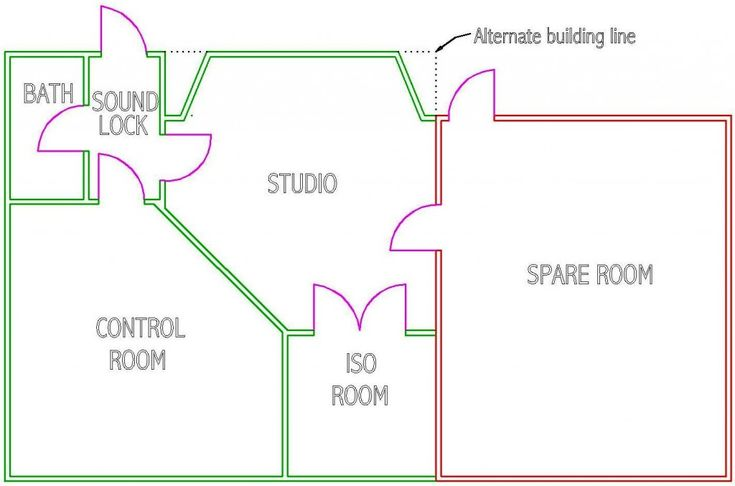 Floor Plan Concept Most Used For Recording Studios