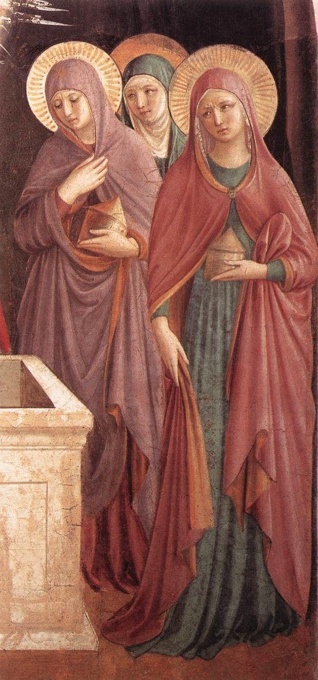 Women at the Tomb (detail). 1440-41 Fresco Convento di San Marco, Florence.