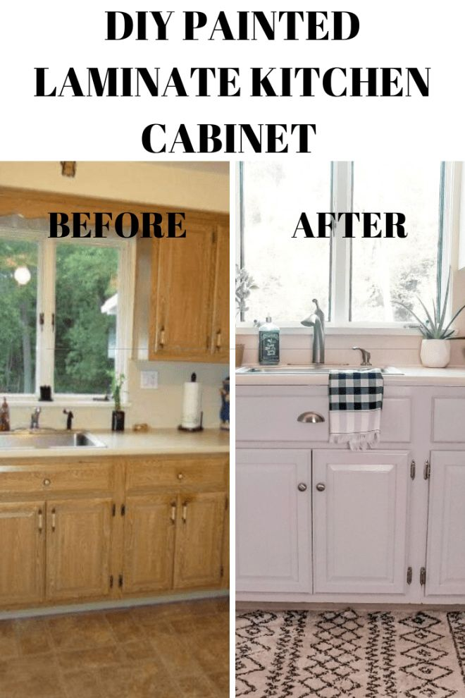 DIY Painted Laminate Kitchen Cabinet in 2020 (With images ...