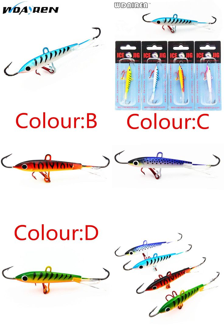 [Visit to Buy] WDAIREN 8.3CM 18g fast sinking action Winter Fishing Lure Ice Fishing Jig Bait  Carp Fishing hooks Lead Hard Lure 10# Red hook  #Advertisement