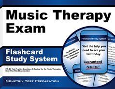 Our Music Therapy Exam Flashcard Study System helps test takers prepare for the Music Therapy Board Certification Examination, which is offered by the Certification Board for Music Therapists (CBMT) so that they can become a Music Therapist - Board Certified (MT-BC). #musictherapy