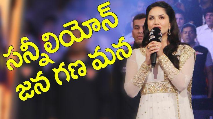 Sunny Leone sings the National Anthem at Pro Kabaddi