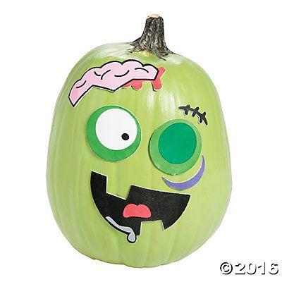 Zombie Pumpkin Decorating Craft Kit