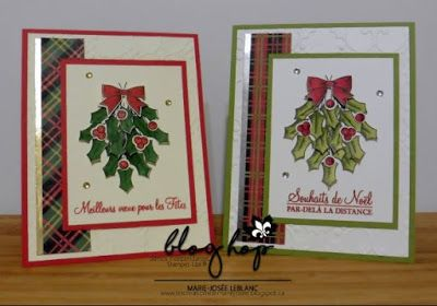 Les créations de Marie-Josée: Blog Hop de novembre Noël traditionnel #scrapbooking #cardmaking #cards #hollyberryhappiness #noel