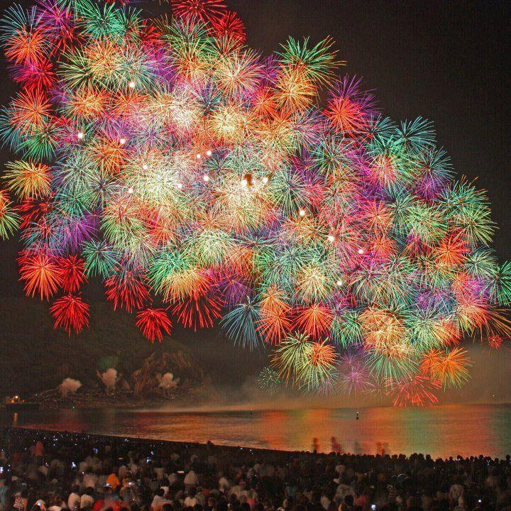 三重県「熊野大花火大会」の花火