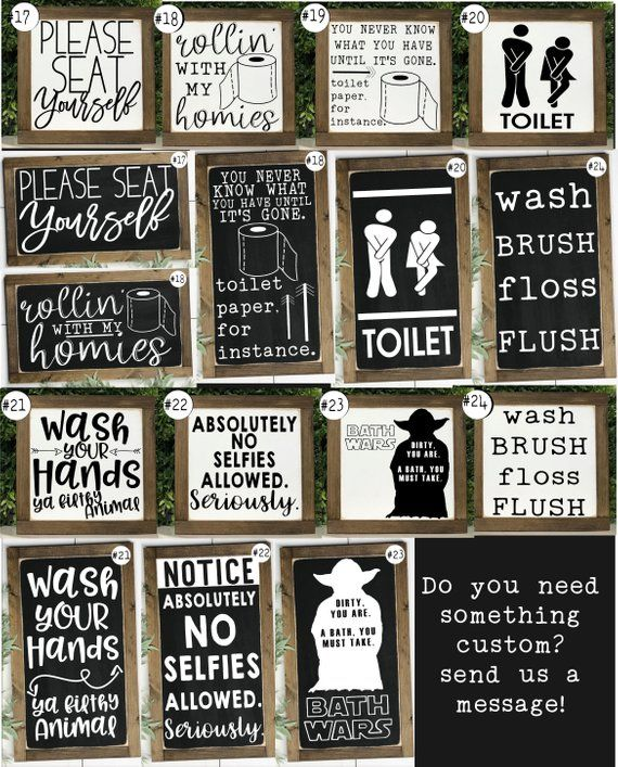 Toilet Sign Wood