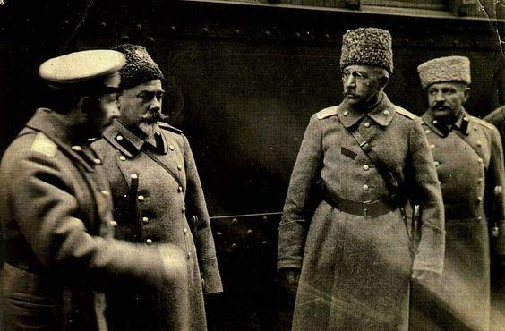 Anton Denikin and Pyotr Krasnov, White Army Generals, 1919: