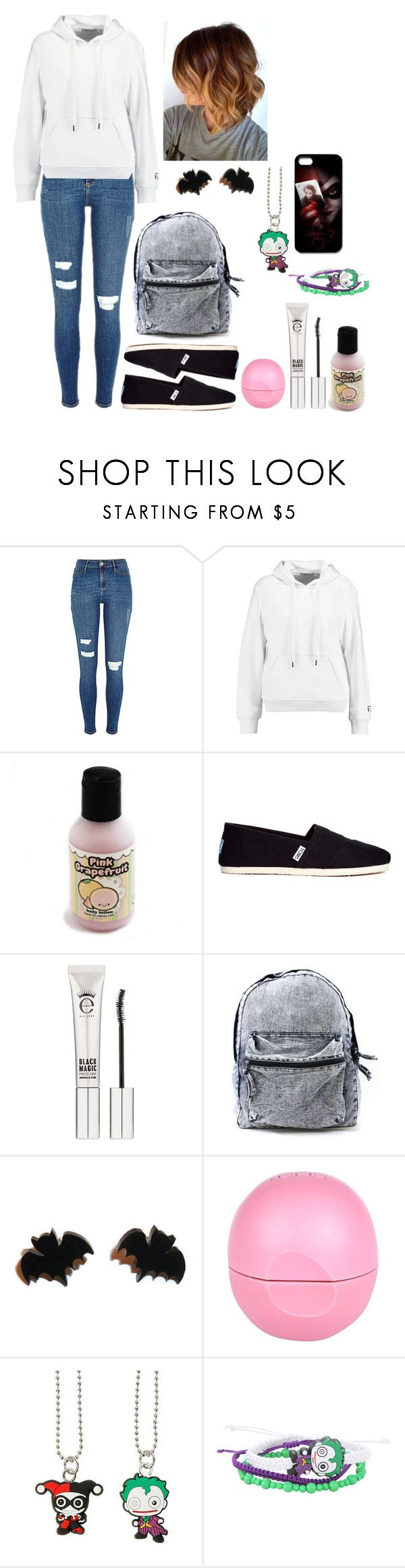 """""""Six flags day 1"""" by axelyamary ❤ liked on Polyvore featuring T By Alexander Wang, TOMS, Eyeko and River Island"""
