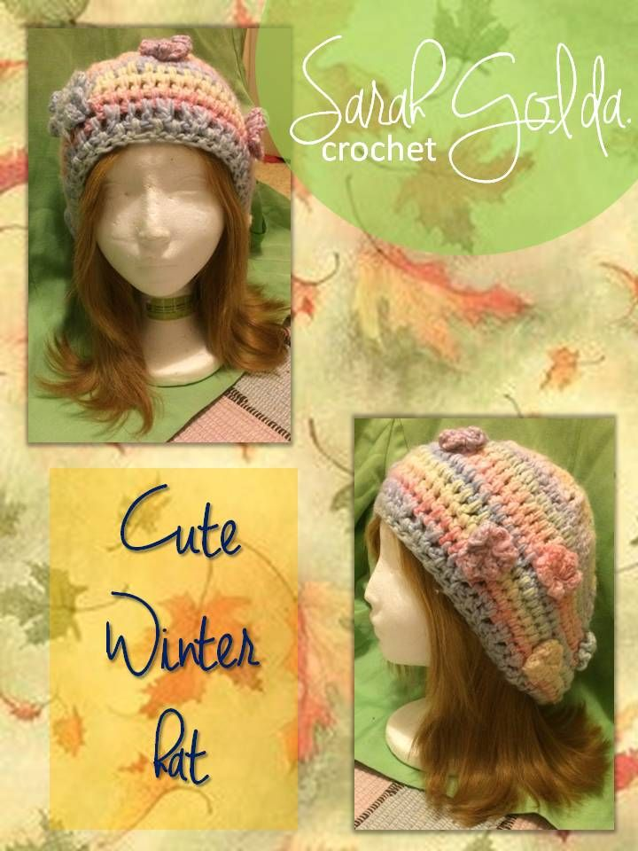 A cute hat I crocheted for the winter