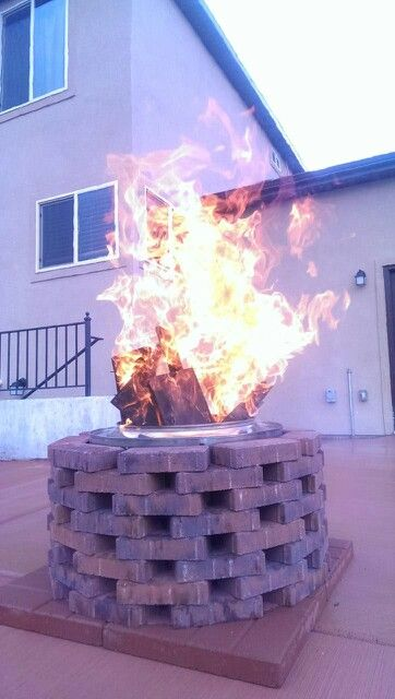 Washer drum fire pit.