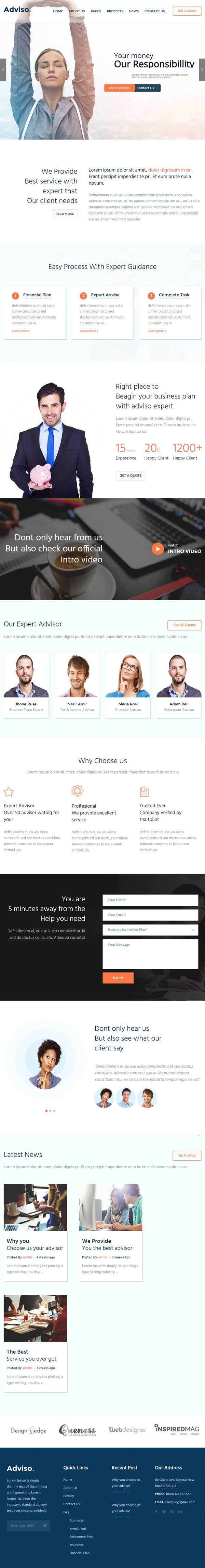 Adviso : Finance, Consulting, Business WordPress Theme