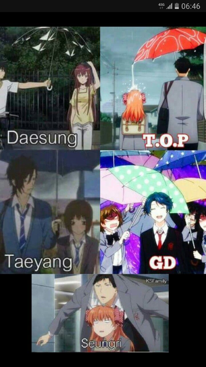 Heh! I've posted just the TOP and GD one a while ago but this one is hilarious! Why is it I can see Ri totally doing that. The little dork....