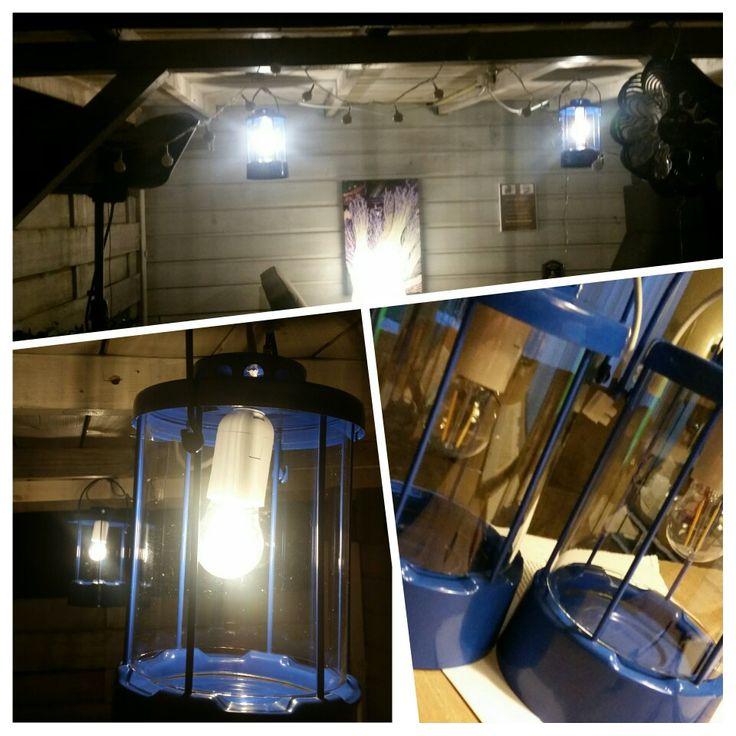 Ombouwproject. Van kaarslantaarn naar buitenlamp. #buiten #verlichting