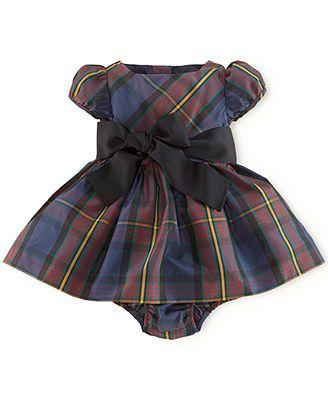 Ralph Lauren Baby Girls' Tartan Plaid Dress www.babygirltrends.com #babygirltrends #holidaydress