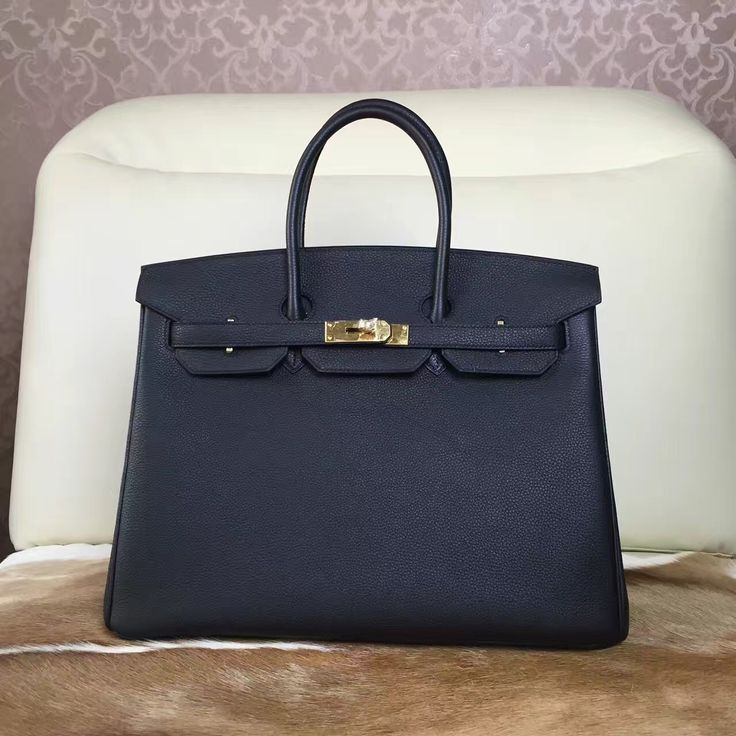 Birkin leather bag - Black 30 / 35 cm on stock. all handsew and make by Togo leather. if you wanna special request, please let us know.
