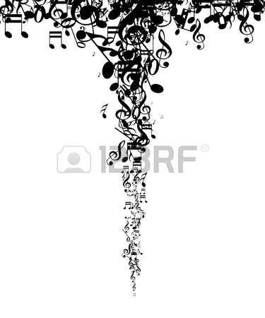 Absztrakt zenei jegyzetek háttér
