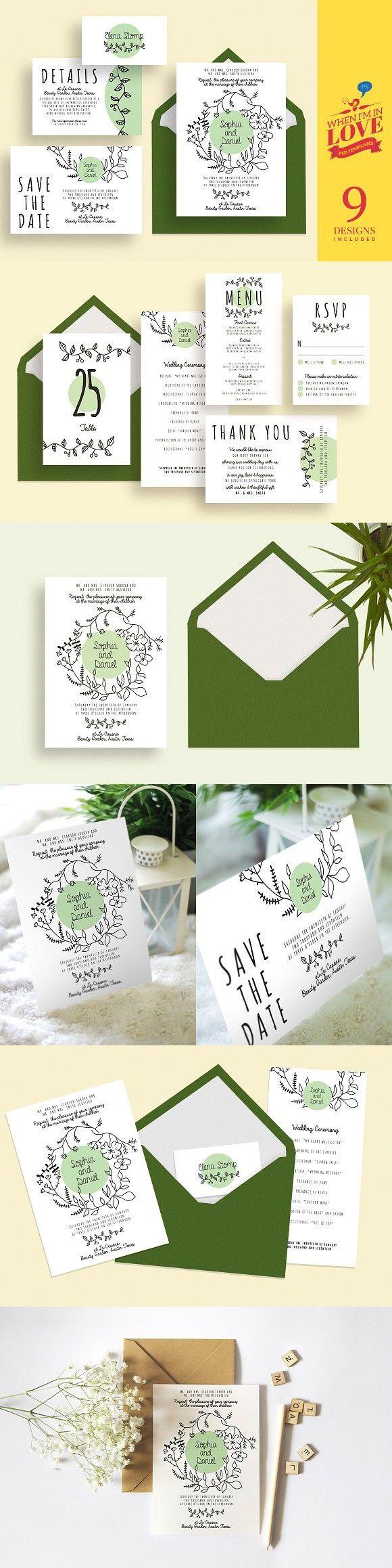 Allison - Wedding Set 4. Wedding Card Templates