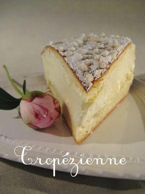 Tarte tropézienne -C'est un gâteau monté à partir d'une brioche au sucre fendue en deux et garnie d'un mélange de deux crèmes (Crème pâtissière et crème au beurre), une recette d'origine familiale du pâtissier Alexandre Micka. La recette est déposée et secrète.