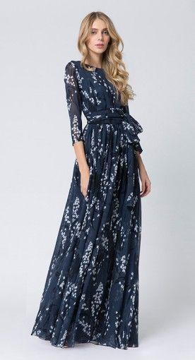 Modest Floral Maxi Dress #modestdress