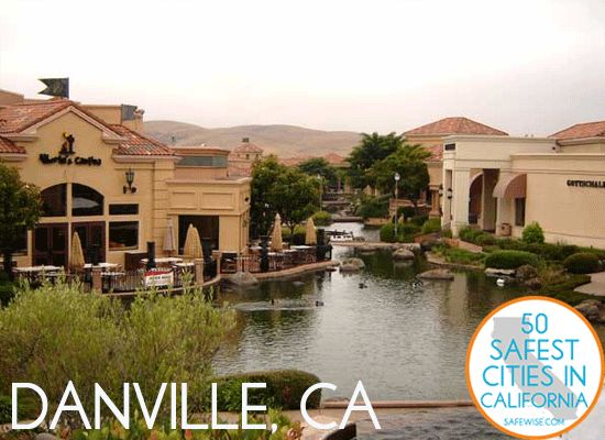There you go Maria, Danville, California.  LOL  9th safest city in Cali.  It isn't Virginia, but it is Danville.  @Maria Piper Scearce