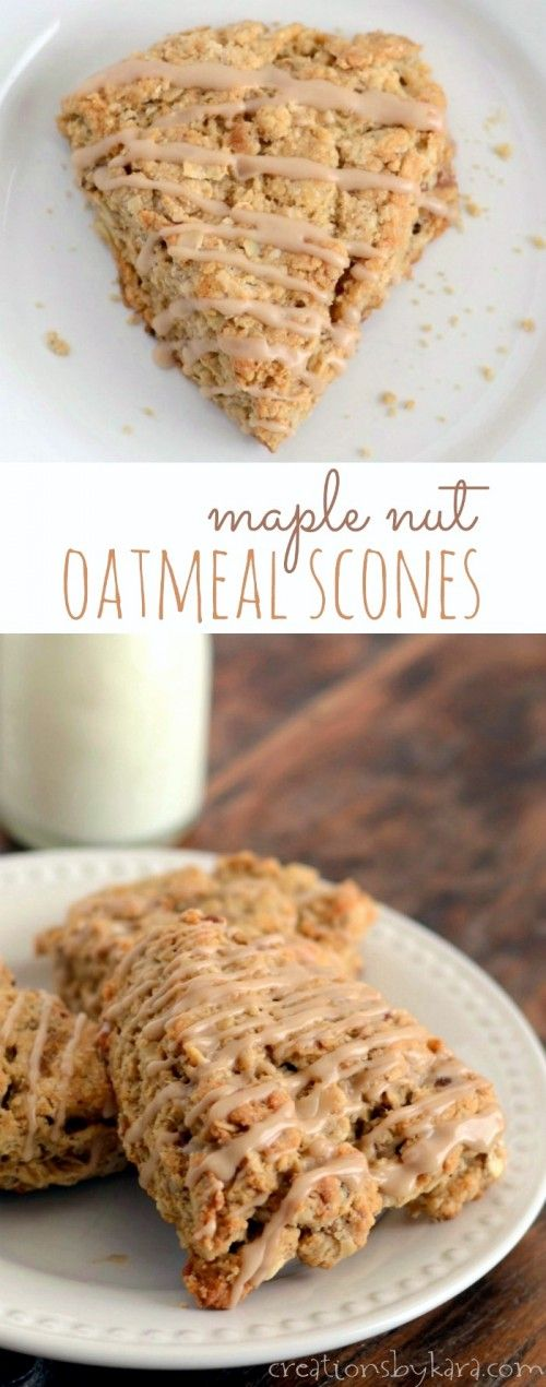 Loaded with hearty oats and pecans, then drizzled with a tasty maple glaze, these Maple Nut Oat Scones are sure to make any morning a little sweeter!