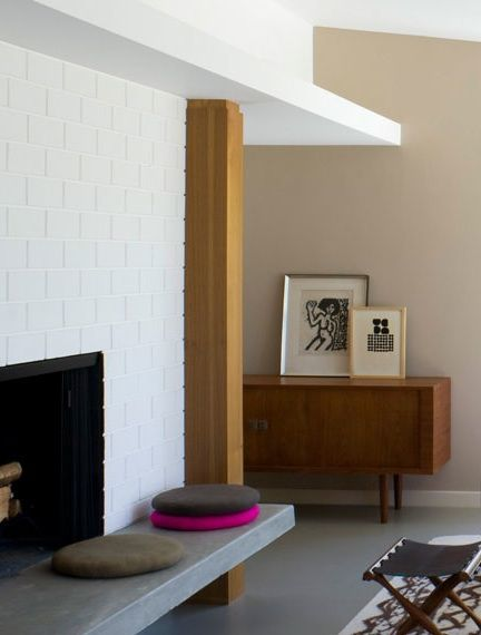 Living & Dining: Brick Fireplaces Painted White : Remodelista