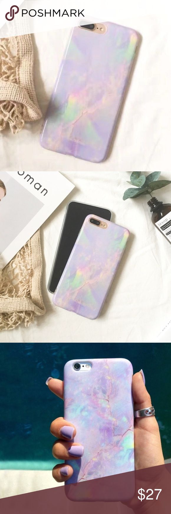 30% OFF: new Marble purple pastel 6/6S iphone case New marble rainbow phone case for iPhone 6/6s! Comes brand new in packaging. This colorful pastel phone case for iPhone 6/6s is perfect for spring! Like this listing to be notified of price drops or add to a bundle to get 30% off 2 discount! 😊❤️ Accessories Phone Cases