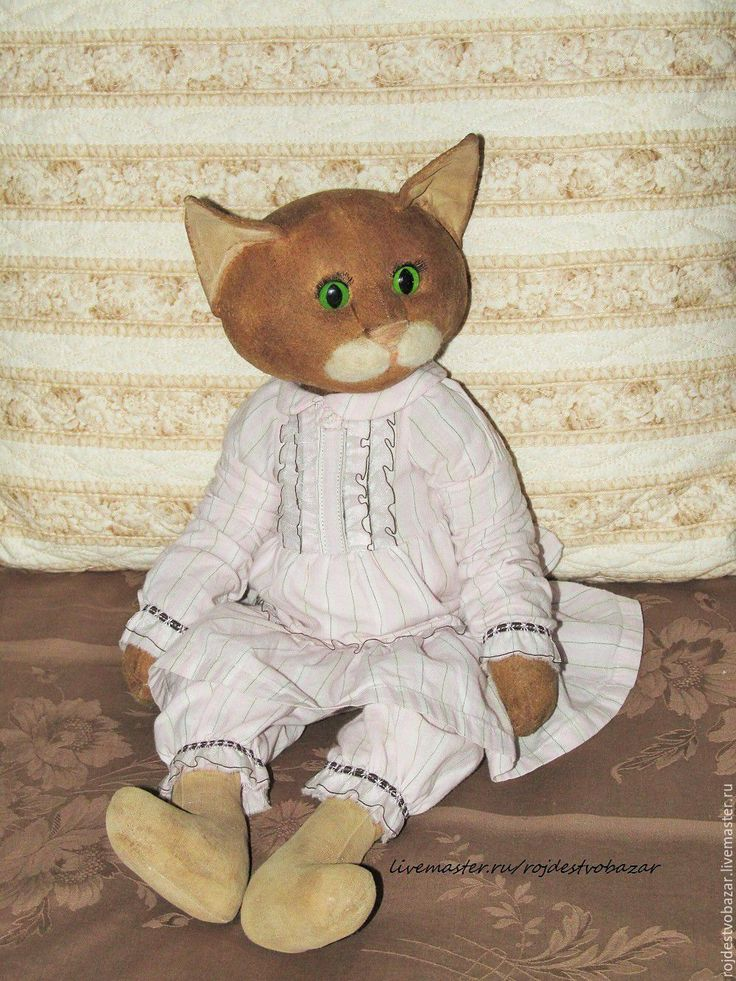 Купить Кошка - кошка в платье, кошка тедди, друзья тедди, бледно-розовый