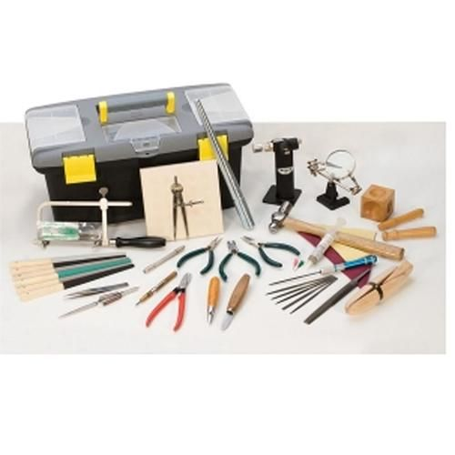 Portable essential jewelry hand tool set includes the tools needed for jewelry making and repair. This money saving kit comes complete with not only quality hand tools for just about any jewelry design, it also includes a tool box that with extra storage