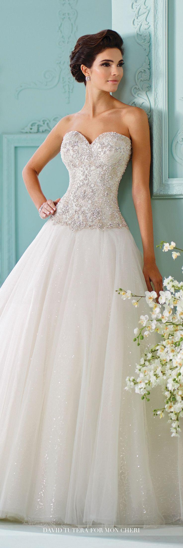Strapless Tulle with Swarovski Crystals Wedding Dress- 216258 Saphia ...
