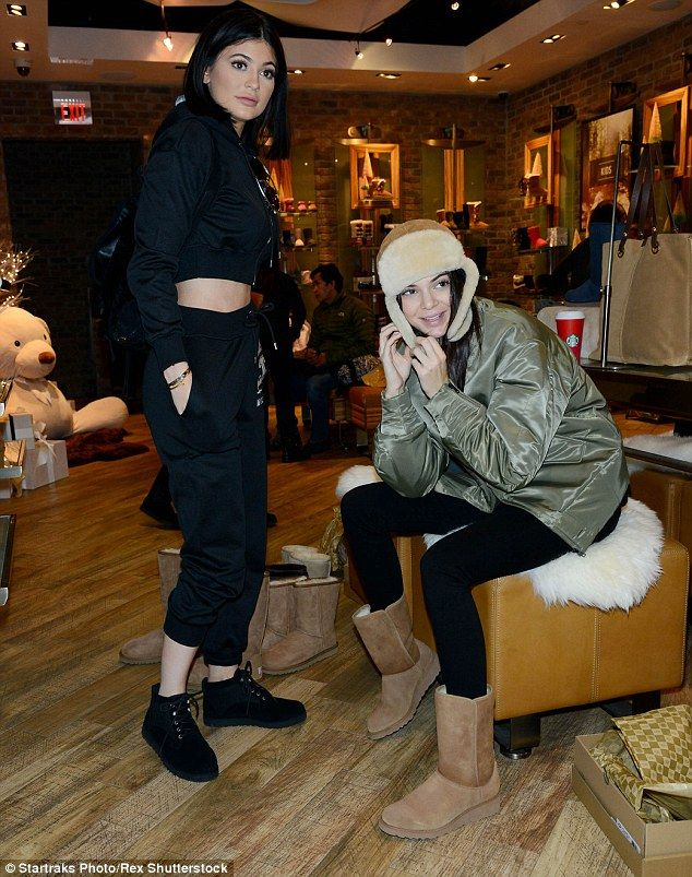 Look out: Kylie watched her older sister as she tried on multiple items from the Australia...