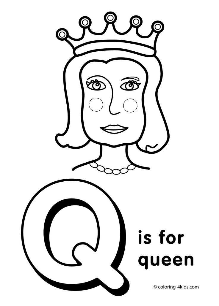 Letter Q coloring pages alphabet