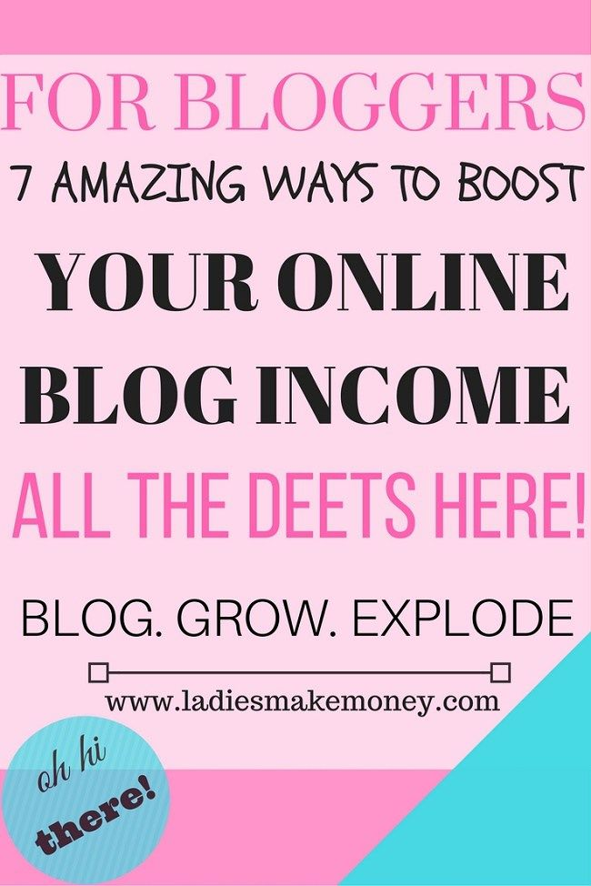 7 Ways to Boost your Online blog INCOME and make Money. Learn how to make over $1000 for your blog today.