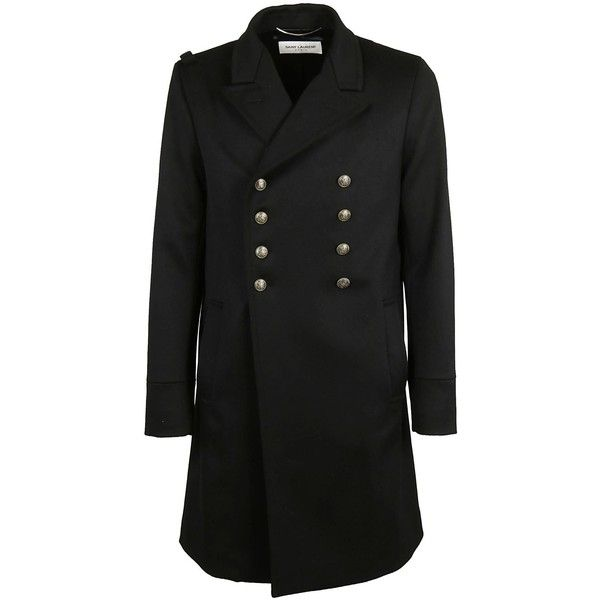 Military Coat (€1.665) ❤ liked on Polyvore featuring men's fashion, men's clothing, men's outerwear, men's coats, mens double breasted coat, mens double breasted military coat, mens wool coats, mens double breasted wool coat and mens wool military coat