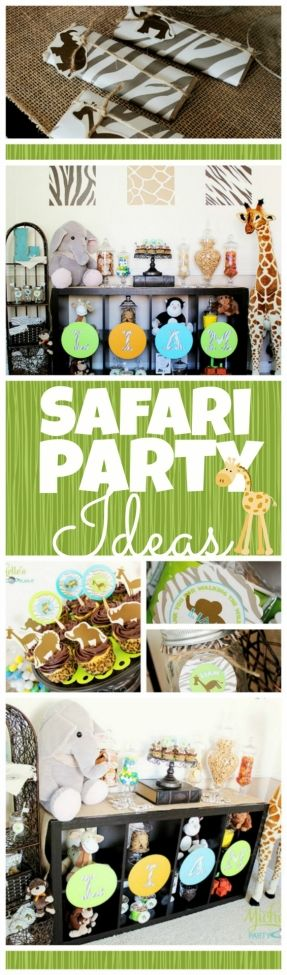 Safari Birthday Party Ideas! http://spaceshipsandlaserbeams.com/blog/2013/07/party-central/boy-safari-birthday-party-ideas