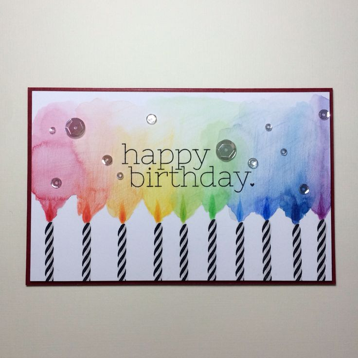 Happy birthday card! Simon Says Stamp card kit.