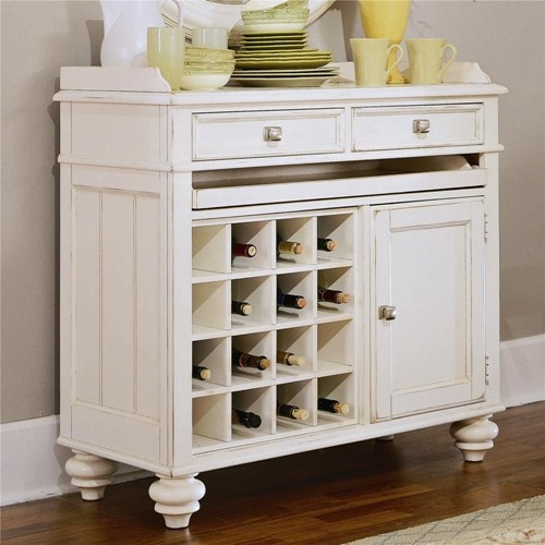 Camden   Light Server With Wine Storage And Silver Tray By American Drew # DiningRoom #
