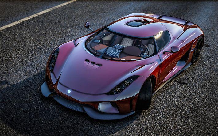 Descargar fondos de pantalla GTA 5, Koenigsegg Regera, Grand Theft Auto V, supercar, GTA 5 mods, que hypercar, Koenigsegg