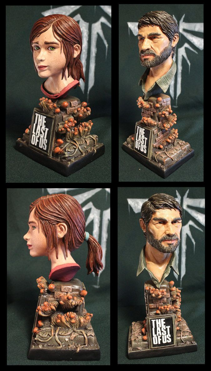 Ellie and Joe The Last of us bust's by Leebea.deviantart.com on @DeviantArt